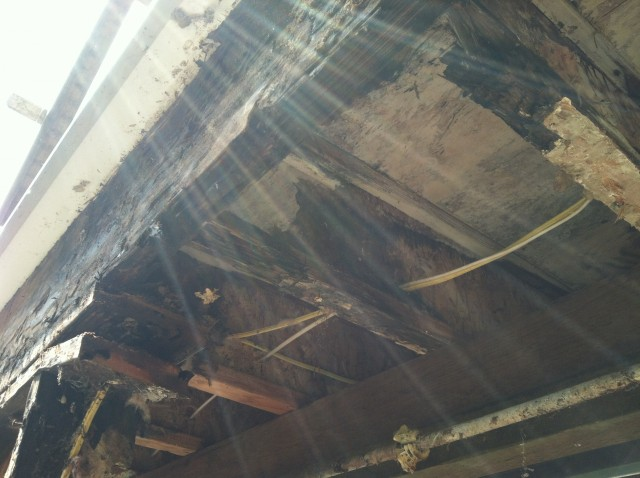 picture of significant structural damage caused by water
