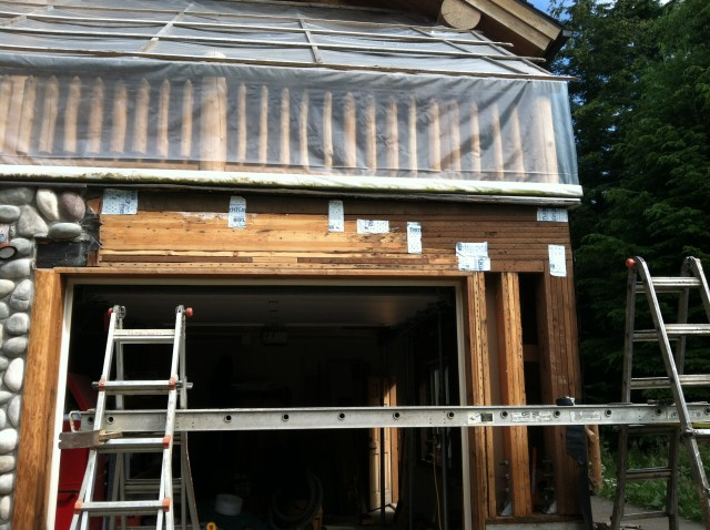Replacement of structural timber over garage