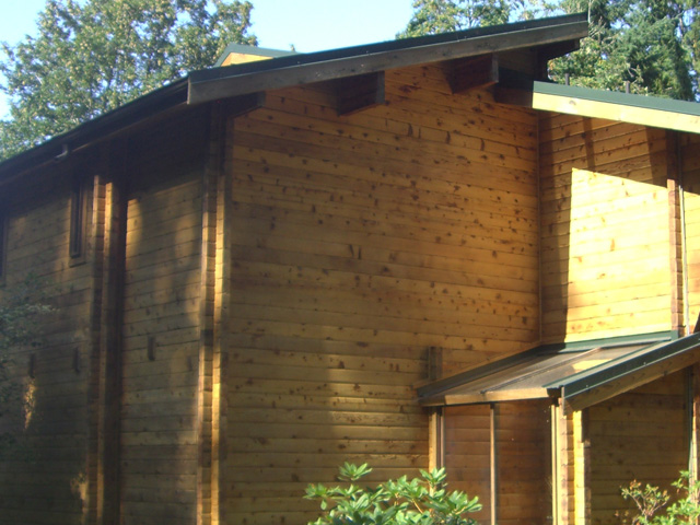 log home staining proj 4