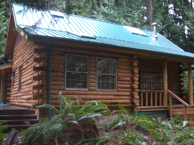 log home staining project 3
