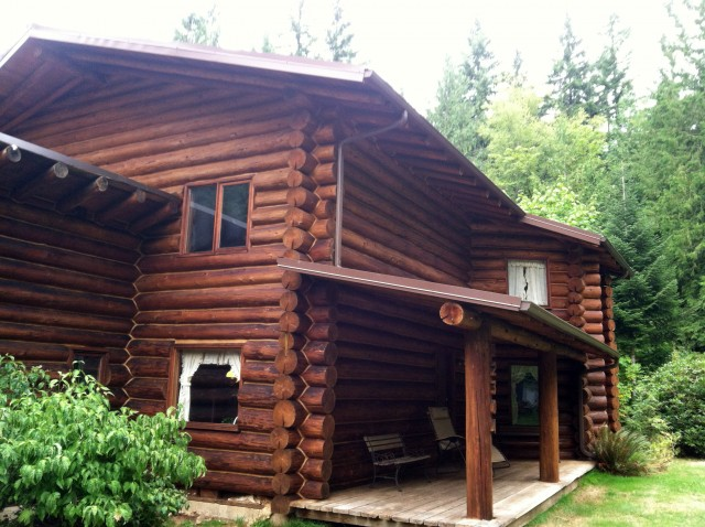Log House After-Staining